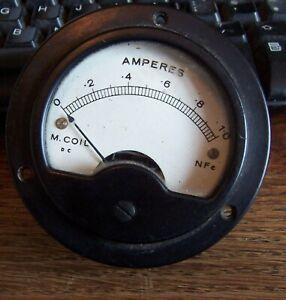 Vintage 10 amperes DC meter gauge Weston Sangamo Weston Ltd 1651085