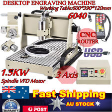 3Axis CNC 6040 USB Router Engraver Machine Drill Woodwork Cutting 1.5KW + Remote