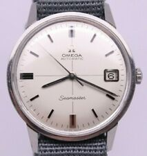 VINTAGE 1960's Omega Seamaster 34.5mm Mens Steel Automatic Watch MINT CROSSHAIR