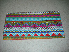 Soft Fabric Checkbook - Colorful Bright Pottery Stripe - Last One Available