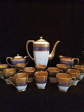 Pickard Tracery and Blue Lustre Coffee Pot Set