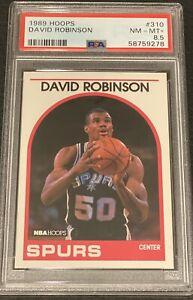 1989 Hoops #310 David Robinson San Antonio Spurs Rookie RC HOF PSA 8.5 NM-Mint+