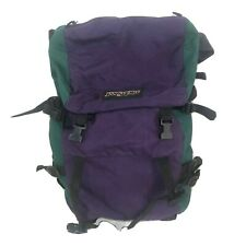 Vintage Purple Green Jansport Hiking Backpack Ruck Hiking Camping Outdoors USA