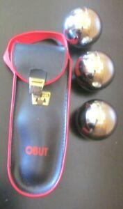 (3) Vintage Obut Chrome Balls H 3 720 Obut ATC with Case