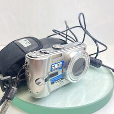 Panasonic LUMIX DMC-TZ3 7.2MP Digital Camera - Silver, Cable TESTED #48