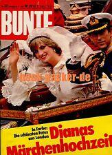BUNTE 1981 Nr. 31 (31.7.81): Dianas Märchenhochzeit / Bhagwan / Video