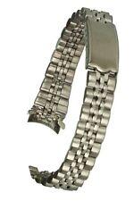 Edelstahl-Uhrarmband silber - 13 mm Jubilee-Style mit Faltschließe