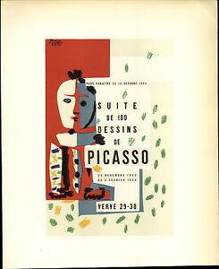 1959 Mini Poster Lithograph ORIG Print Pablo Picasso Suite De 180 Dessins