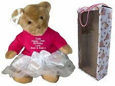 Personalised Teddy Bear Gift - Baby's 1st Birthday 13th, 16th, 18th, 21st -100th