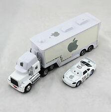 Disney Pixar Cars 3 No.95 51 Mack Hauler Truck & Racers Chick Hick Metal Kid Toy No.84 White Apple Mack&n0.84 Car