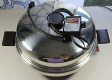 "Vintage West Bend Electric Fry Pan Skillet 12"" w/ Dome Lid # 73010"