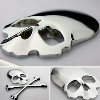 New Cool 3D Metal Skull Head Bone Logo Modified Emblem Car Sticker Window Decal