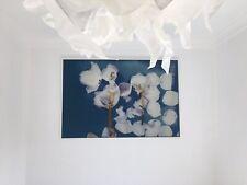 More details for large artwork framed in wooden floating frame fabric print,exdisplay, 83 x 123cm