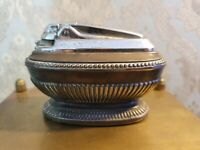 Vintage Ronson Queen Anne Silver Plated  Table Lighter