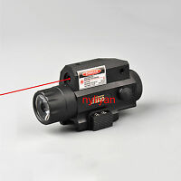 300LM LED Flashlight Tactical Torch&Red laser sight 20mm Rail For Pistol Rifle