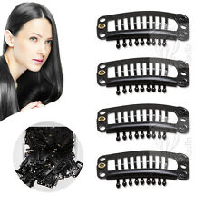 30 Tressen Clips Toupet Clip In Extensions Haarteile Haarverlängerung Schwarz L