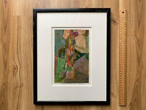 Mid 20th Century Modernist 1950's ORIGINAL Italian cubist painting