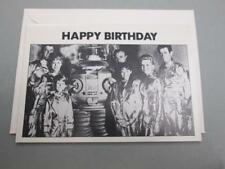 VINTAGE LOST IN SPACE ROBOT CLASSIC TV GREETING BIRTHDAY CARD & ENVELOPE UNUSED