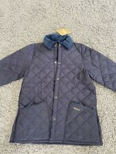 Barbour Children's Liddlesdale Quilted Jacket Coat Navy UK Size XL BNWT