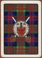 Playing Cards Single 1 Card Old Wide CLAN TARTAN Coat Arms MACDONALD Family Name