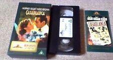 Casablanca MGM GREATS UK PAL VHS VIDEO 1997 Humphrey Bogart Ingrid Bergman