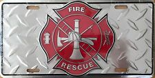 Fire Rescue....Premium Embossed License Plate (LP-1109-201)