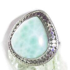 LARIMAR ATLANTIS 2 Ring ECHT 925 Silber Blue Unique Unikat