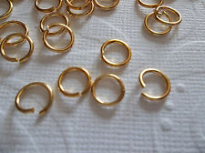 Large 7.6mm Round Raw Brass 20 gauge Jump Rings - Qty 200 Pieces
