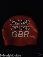 Official Speedo British Swimming Team GB kit Olympic Swim Cap racing hat ENGLAND