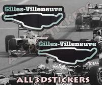 STICKER PEGATINA DECAL VINYL Jacques Villeneuve Signature
