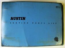 AUSTIN MINI COOPER 998cc - Car Parts List + Supplement - 1962 - #AKD1932