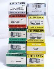 Kleinbahn H0  Konvolut von 10 Stück Originalkartons Leerkarton von Güterwagen