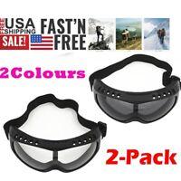 2x Anti UV Ski Goggles Snow Glasses Dustproof UV Protection Snowboard Snowmobile