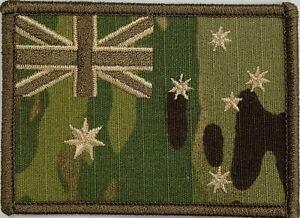 Army Australian National Flag Patch Subdued Multicam SASR, CDO, hook backing.