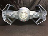 Star Wars POTF Darth Vader's Tie Fighter Ship No Missiles 2003 Good Shape