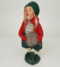 Vintage Byers Choice 1983 Girl With Fur Muff Signed On Base