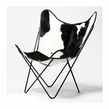 Black& White  BKF AA Arm Chair Butterfly Leather Armchair Chair Industrial Cafe