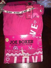 JOE BOXER 2pc Pink Love Night Shirt & Eye Mask Sleep Set Woman's 2X Nightgown