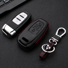 For Audi A3 A4 Q3 S6 TT Smart Key 3 Buttons Key Case Cover Shell Genuine Leather