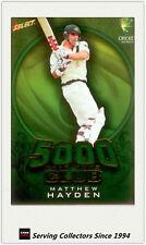 2008-09 Select Cricket Alan Border Medalist Sketch Card BMS3 Matthew Hayden