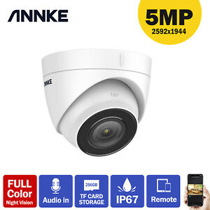 ANNKE 5MP HD PoE IP Network Security Camera Outdoor Night Vision Home Audio in