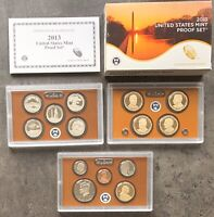 USA 2013 Proof Set S San Francisco PP Presidential Dollar & ATB Quarter 1c-1$