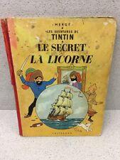 COLLECTION TINTIN HERGE TINTIN LE SECRET E LA LICORNE B33 1963