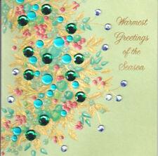 PAPYRUS CHRISTMAS CARD NIP MSRP $6.95 GREEN RHINESTONE (H2)