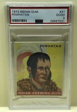 1933 Goudey Indian Gum #31 POWHATAN PSA Grade 2 GOOD   FREE SHIPPING