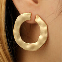 Luxury Women Statement Gold Silver Hoop Stud Earrings Female Fashion Jewelry