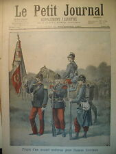 PROJET DU NOUVEL UNIFORME POUR L'ARMéE FRANCAISE LE PETIT JOURNAL 1897