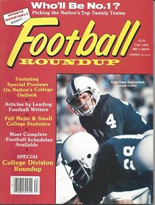 1978 Football Roundup magazine Chuck Fusina, Penn State Nittany Lions EX