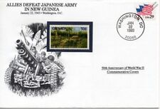 WWII 1943 Allies Defeat Japanese in New Guinea Stamp Cover (USA / Danbury Mint)