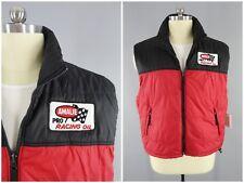 1980s Vintage AMALIE Pro Racing Oil Puffer Vest Puffy Nylon Ski Vest Size XXL